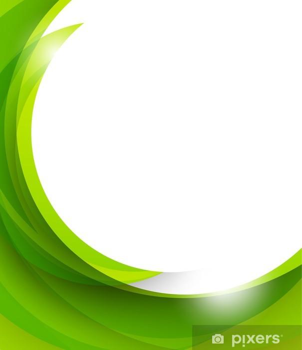 Naklejka Pixerstick Streszczenie zielonym tle - Abstrakcja