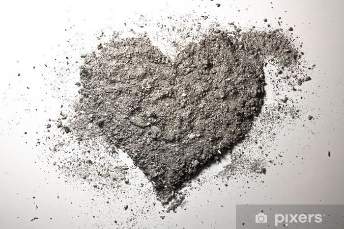 Fotomural Lavable El amor del corazón de madera de fresno - Felicidad