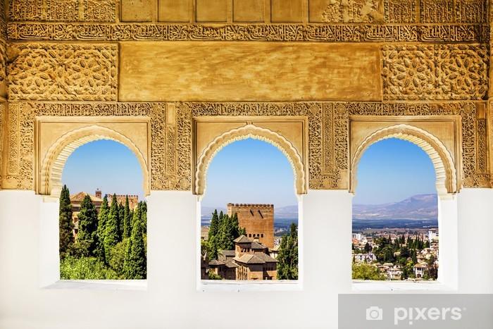 Vinyl Fotobehang Windows op het Alhambra, Granada, Spanje. - Thema's