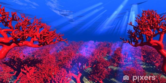 Pixerstick Sticker Rode koraal onderwater - Koraalrif