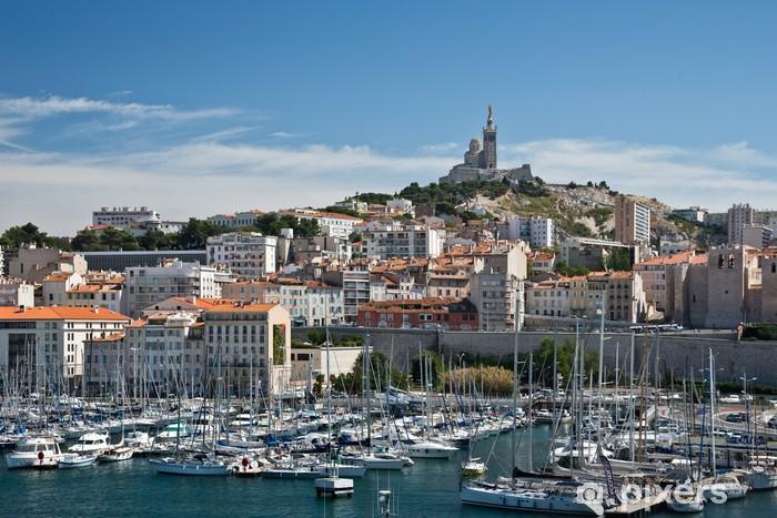 Pixerstick Sticker Marseille, Vieux Port en Notre-Dame de la Garde - Vakantie
