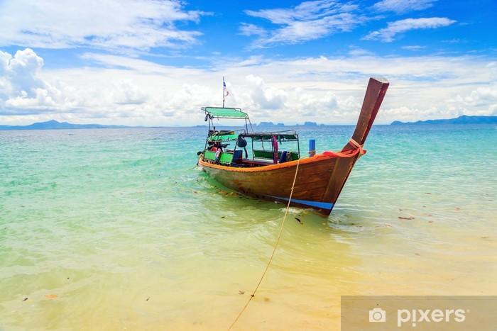 Naklejka Pixerstick Długo tailed łodzi w Kradan Island, Tajlandia - Transport wodny
