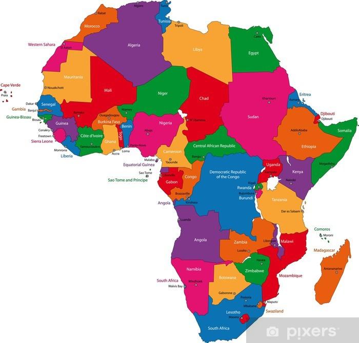 Afrika Kort Plakat Pixers Vi Lever For Forandringer