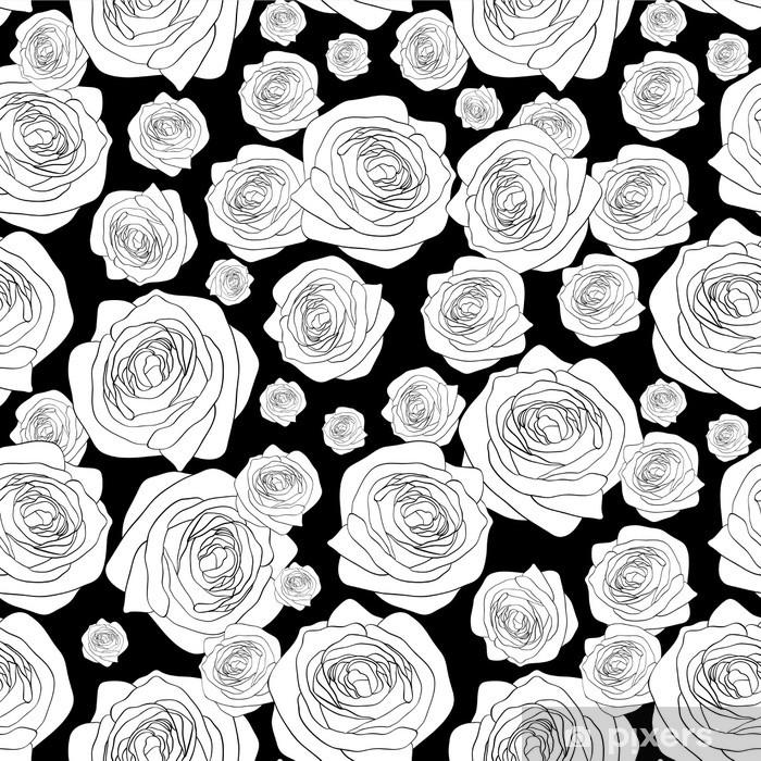 Vinyl-Fototapete Nahtlose Muster mit schönen Rosen - Hintergründe