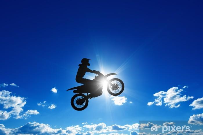 Fototapeta winylowa Skoki motocyklista - Tematy