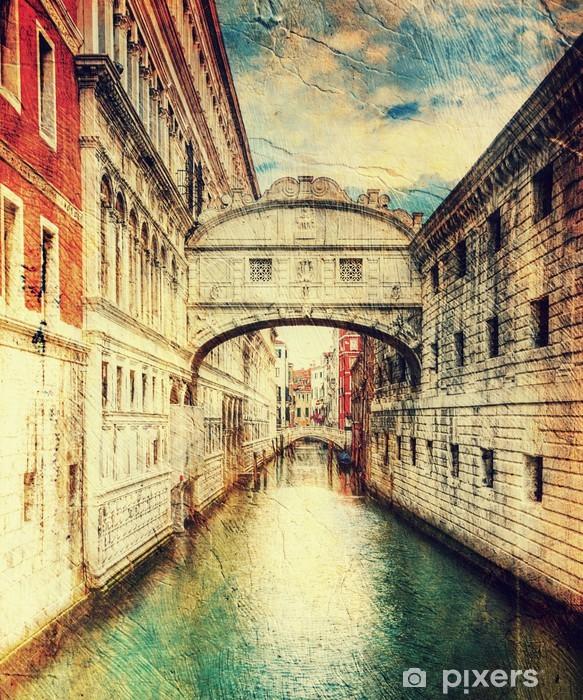 Papier peint vinyle Pont des soupirs (Pont des Soupirs). Venise. Italie. - Thèmes