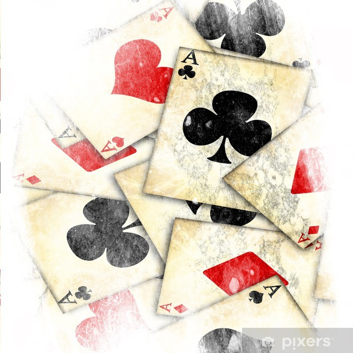 old playing card Framed Poster - Backgrounds