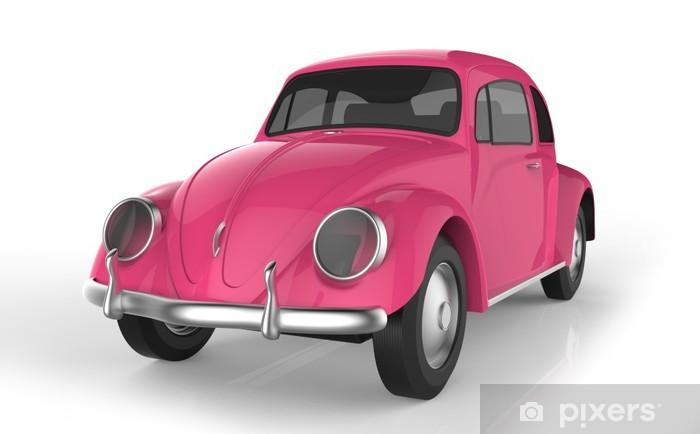 fotobehang roze auto • pixers® - we leven om te veranderen