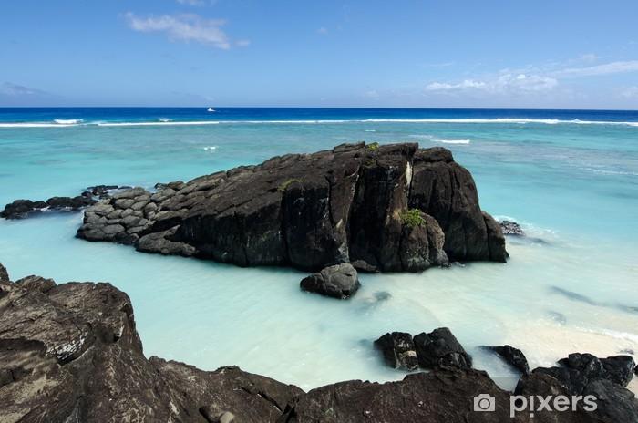 Fototapeta winylowa Black Rock w Rarotonga, Wyspy Cooka - Oceania