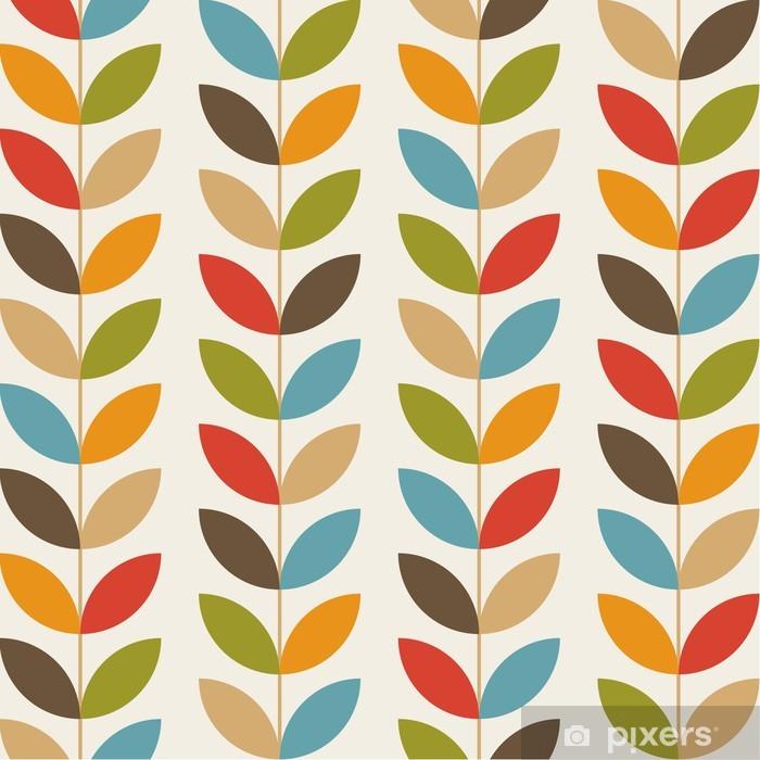 Poster Rétro motif de fleur de fond sans soudure - Célébrations