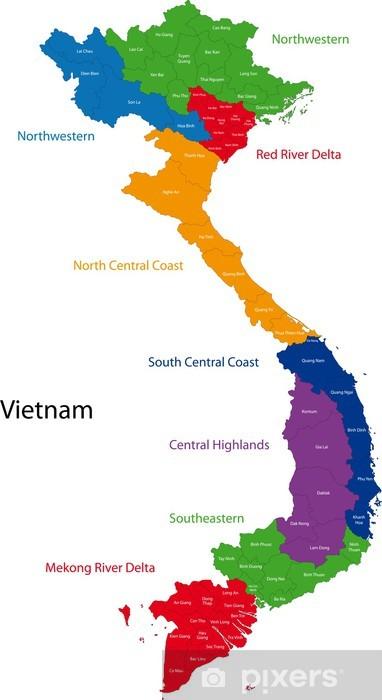 Vietnam Kartta Pixerstick Tarra Pixers Elamme Muutoksille