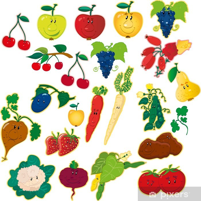 Papier peint vinyle Fruits et Légumes - Repas