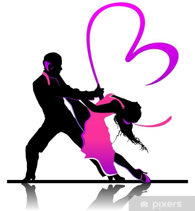 Fototapeta winylowa Walentynki ilustracji z pięknej taniec para - Pary