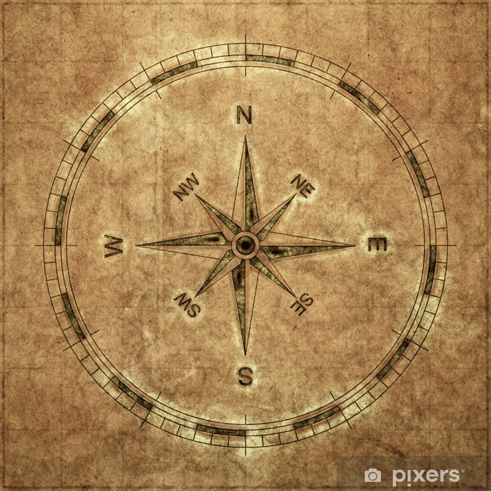 old compass Washable Wall Mural - Vintage maps