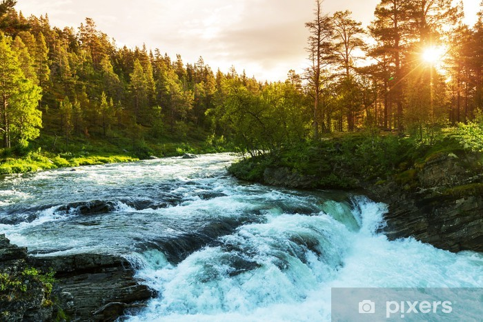 Fototapet av Vinyl River i Norge - Teman