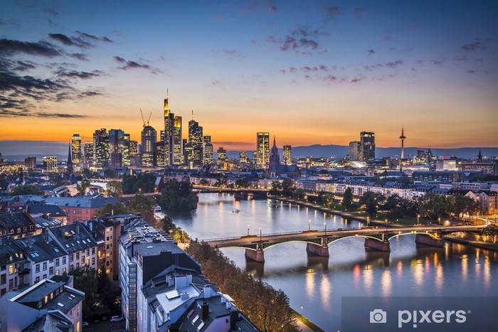 Fotomural Autoadhesivo Frankfurt, Zona financiera Alemania Skyline - Alemania