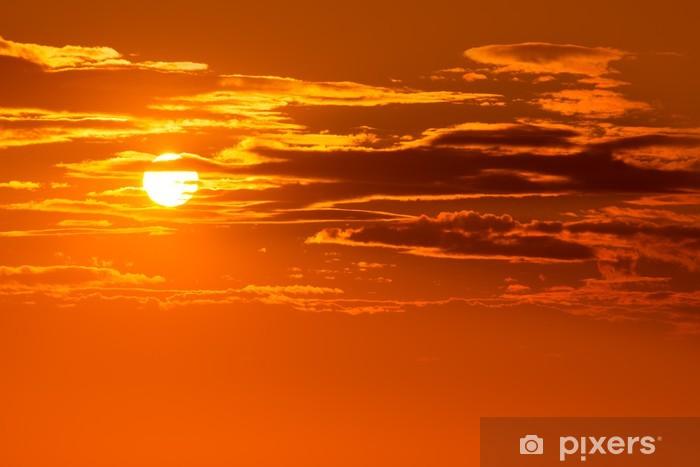 Fototapeta winylowa Zachód słońca, niebo, pomarańczowe tło na wieczór - Niebo