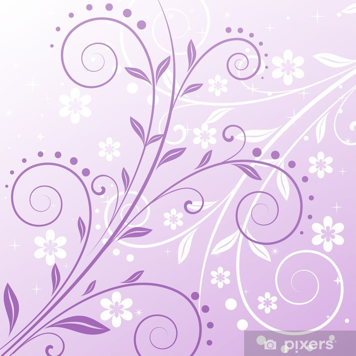 Vinil Duvar Resmi Vector floral background - İllüstrasyon - Arka plan