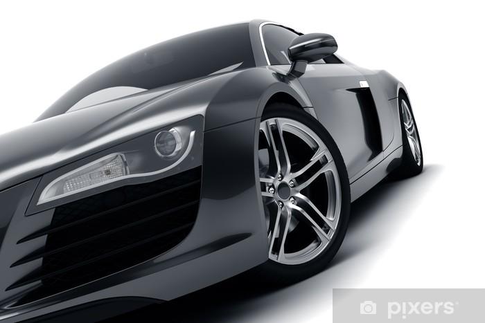 Naklejka Pixerstick Czarny samochód sportowy - Przeznaczenia
