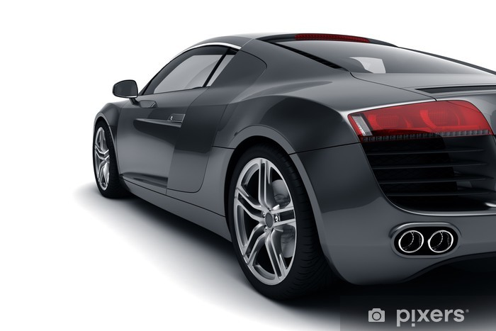 Black Sports Car Vinyl Wall Mural - Themes