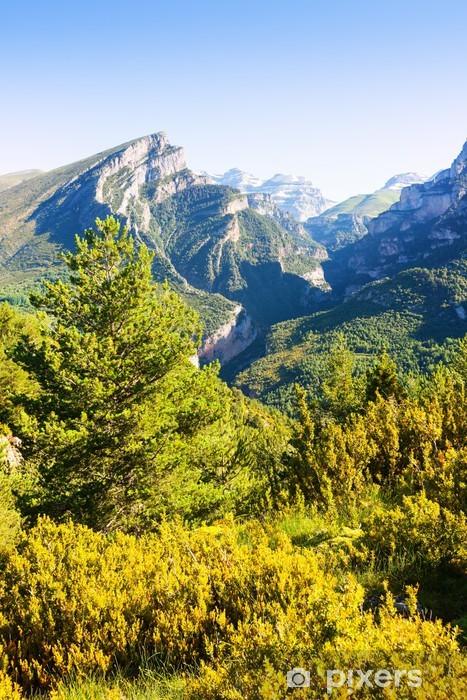 Anisclo Canyon in summer Pixerstick Sticker - Europe