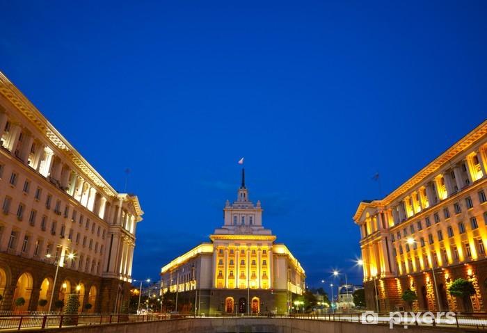 Naklejka Pixerstick Centrum miasta Sofii, stolicy Bułgarii - Europa