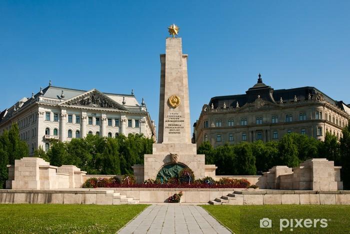 Sticker Pixerstick Budapest, le monument aux soldats soviétiques - Europe