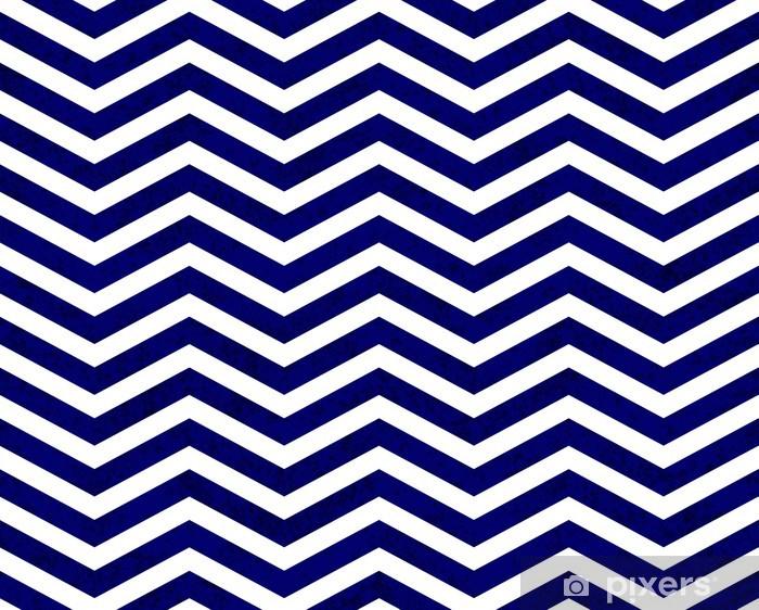 Afwasbaar Fotobehang Blauw Zigzag Geweven Achtergrond van de Stof - Stijlen