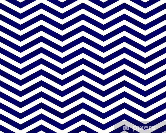 Blue Zigzag Textured Fabric Background Vinyl Wall Mural - Styles