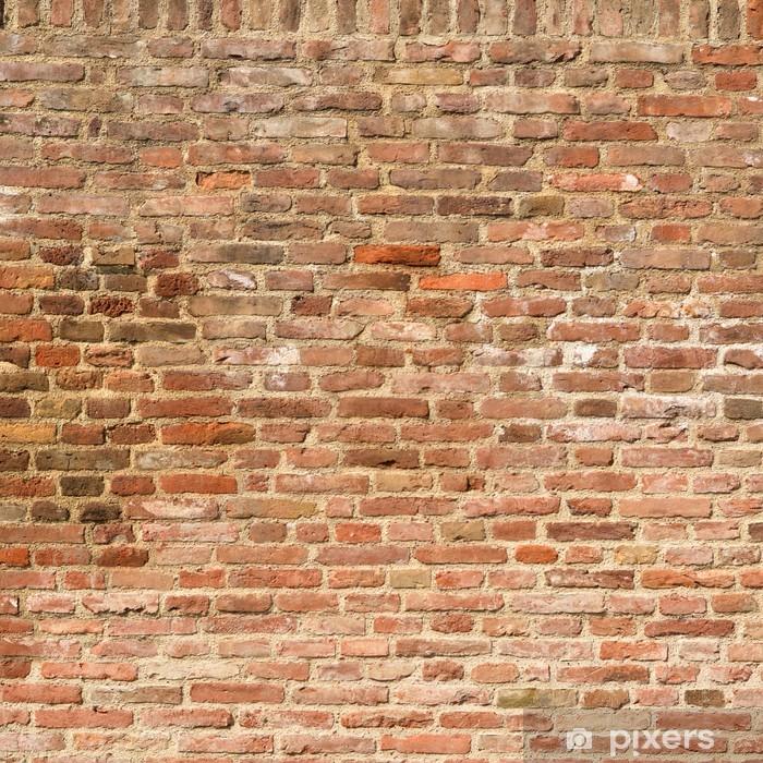 Fotomural Estándar Antecedentes de ladrillo textura de la pared - iStaging