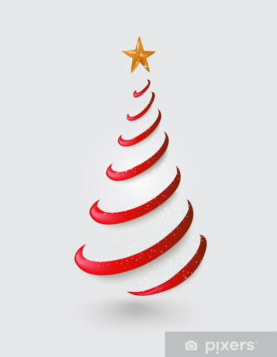 Stern Frohe Weihnachten.Fototapete Frohe Weihnachten Abstrakten Roten Baum Goldenen Stern Eps10 Datei