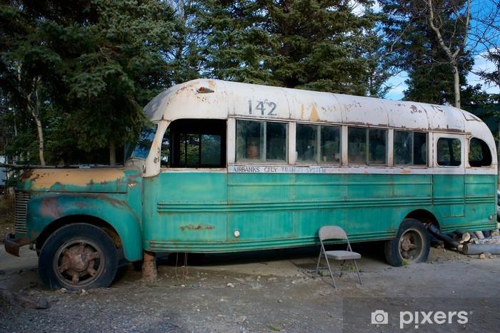 Pixerstick Sticker Magic Bus 142 uit de film Into The Wild - Amerika
