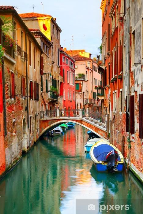 Narrow canal in Venice Pixerstick Sticker -