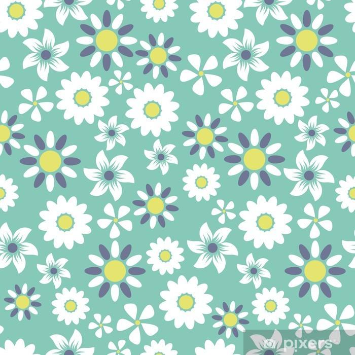 Naklejka Pixerstick Bez szwu kwiatowy wzór tła - Sztuka i twórczość