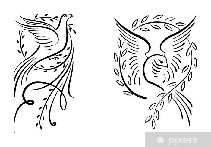 Papier peint vinyle Doves - Oiseaux