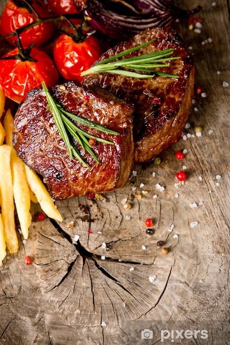 Sticker Pixerstick Steaks de boeuf - Viande