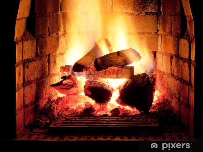Fototapeta winylowa Ogień w kominku - Tematy
