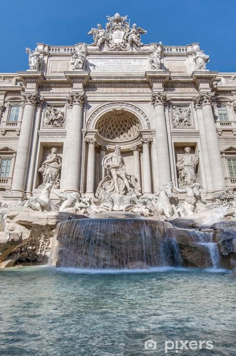 Papier peint vinyle Fontaine de Trevi, la fontaine baroque à Rome, Italie. - Villes européennes