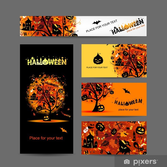 Invitation Cards For Halloween Party For Your Design Poster