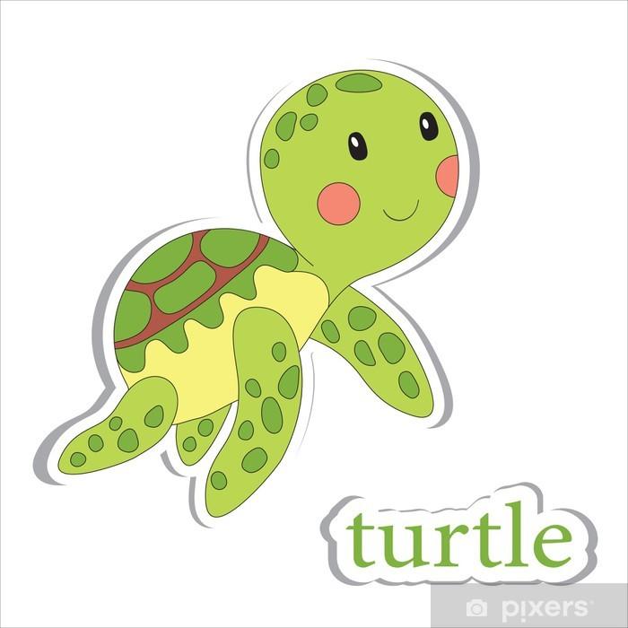 Naklejka Pixerstick Żółw - Edukacja