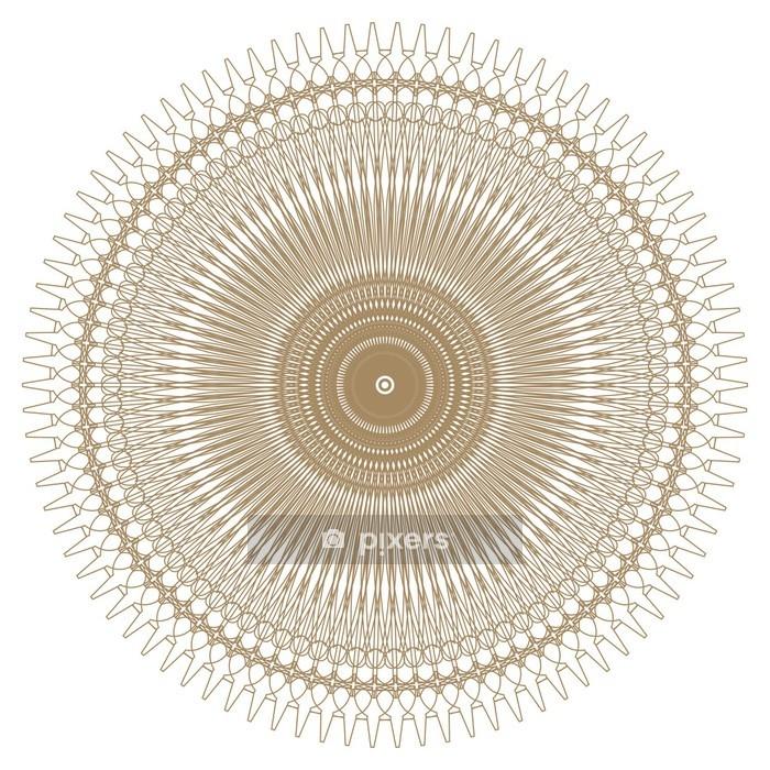 Naklejka Na ścianę Dekoracyjne Ramki Złota Z Rocznika Okrągłe Wzory Na Białym Tle