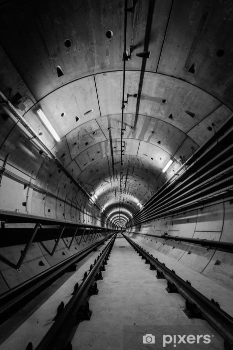 Vinilo para Nevera Túnel del metro de profundidad -