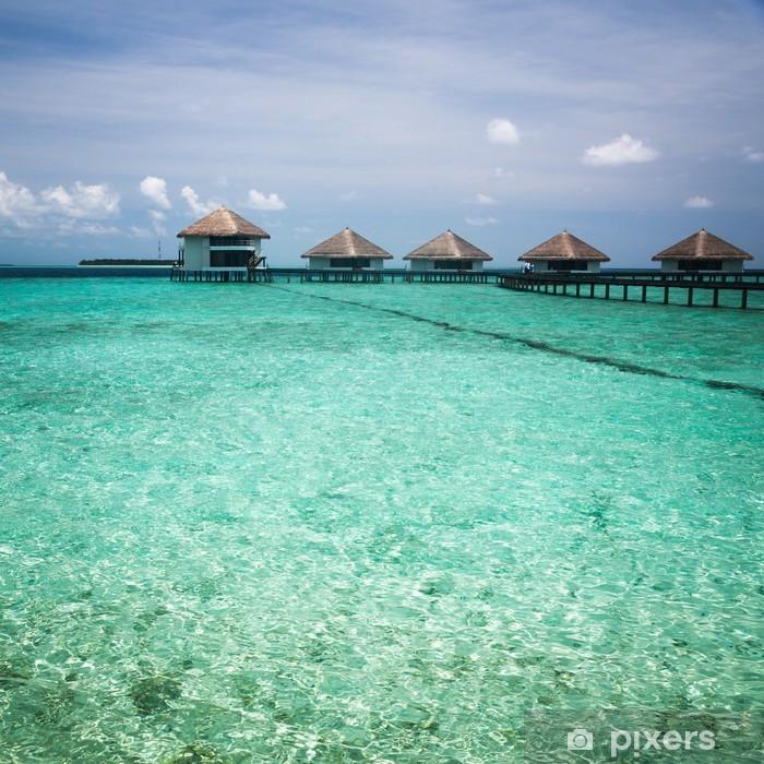Plakat Ponad bungalowy wody z kroków do amazing zielony laguny - Wakacje