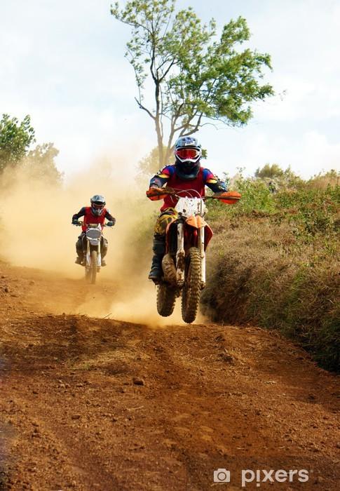 Fototapeta winylowa Motocyklista na konkurencję na wyścigu motocyklowym - Sporty ekstremalne