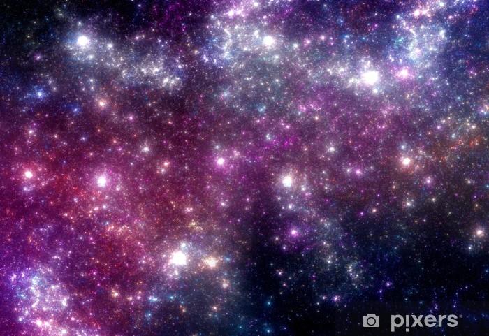 Naklejka Pixerstick Gwiazd tła. fioletowy galaktyki. - Wszechświat