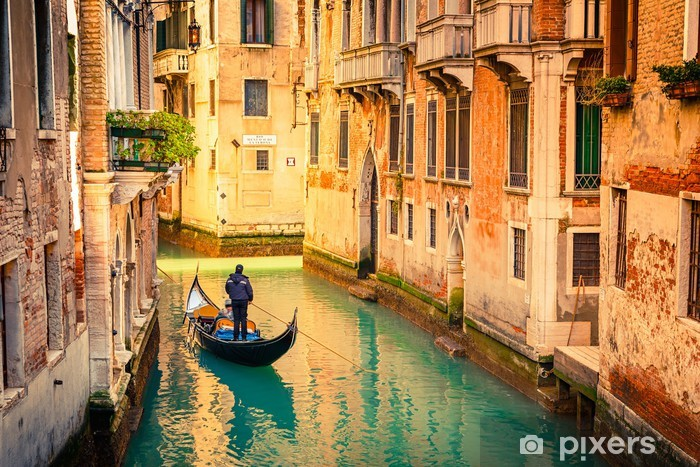 Canal in Venice Vinyl Wall Mural -