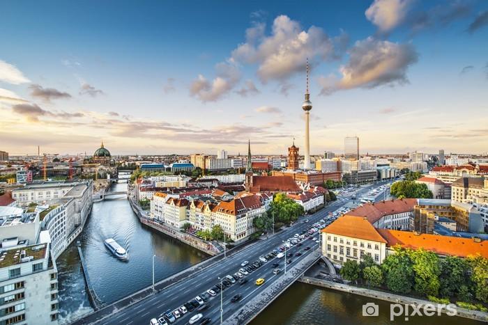Vinil Duvar Resmi Berlin, Almanya Öğleden sonra Cityscape - Almanya