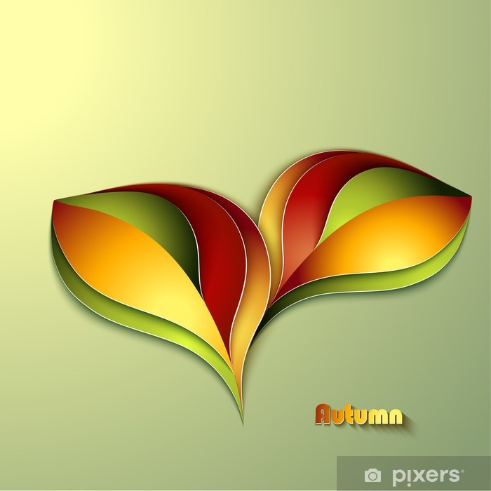 Abstract autumn background with leaves Vinyl Wall Mural - Seasons