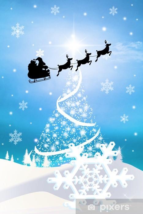 Immagini Slitta Di Babbo Natale.Carta Da Parati Slitta Di Babbo Natale Pixers Viviamo Per Il Cambiamento