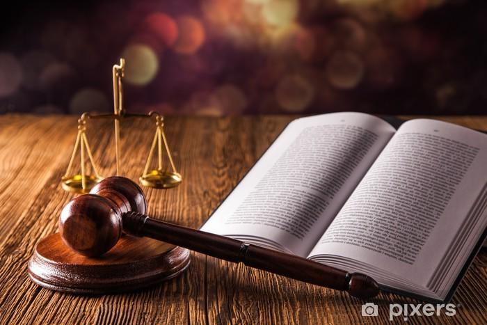 Naklejka Pixerstick Pojęcie prawa - Zaopatrzenie biura